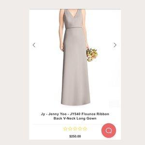 Jenny Yoo, Taupe, Bridesmaid Elegant Long Dress